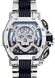 [アクアノウティック]AQUANAUTIC 腕時計 TNSVSKSKLT02 キング クロノグラフ KC トノー ダイヤモンドスカルマスク SS スケルトン文字盤 自動巻き ブレスレット メンズ [並行輸入品]