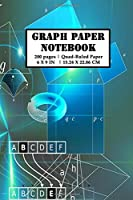 Graph Paper Notebook: 200 pages (100 sheets) 5x5 Composition Grid Planner | Science Fiction Theme | Quad-Ruled | 6x9 Sized