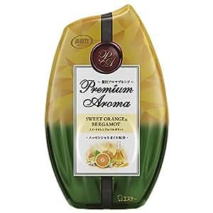 お部屋の消臭力 プレミアムアロマ Premium Aroma 消臭芳香剤 部屋用 スイートオレンジ&ベルガモットの香り 400ml