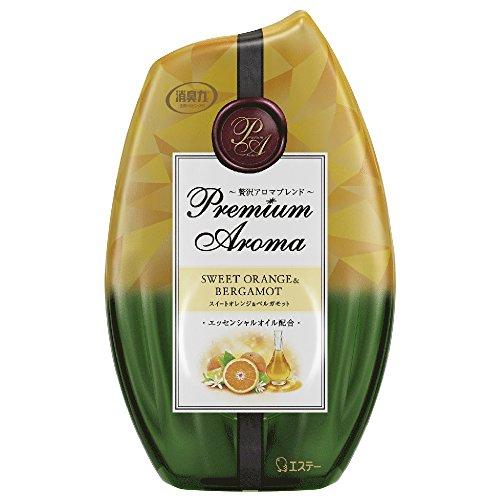 お部屋の消臭力 プレミアムアロマ  消臭芳香剤 部屋用 スイートオレンジ&ベルガモットの香り 400ml