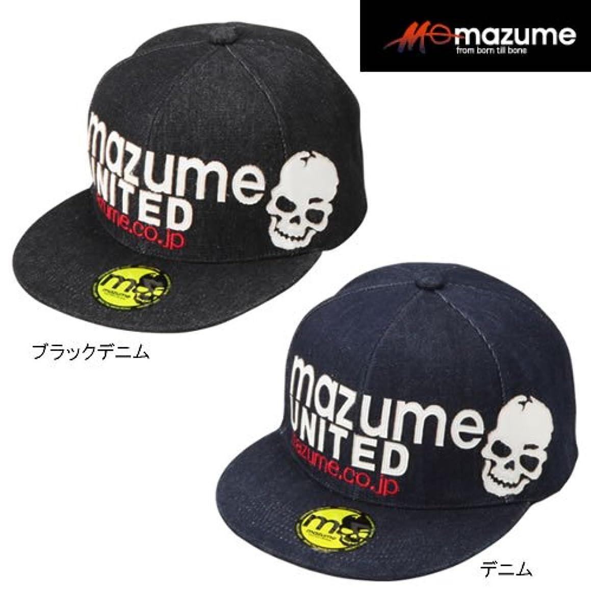 マリナー活気づく高揚したMAZUME(マズメ) FLAT CAP デニム MZCP-300-01 ブラックデニム フリー