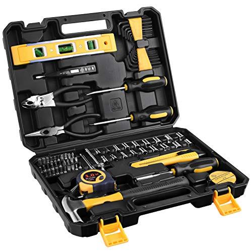 ETEPON 78点 ツールキット 精密ツール ホームツールセット 工具セット 作業道具セット ガレージツールセット 家庭用ハンド ツール 修理&作業用 ET016