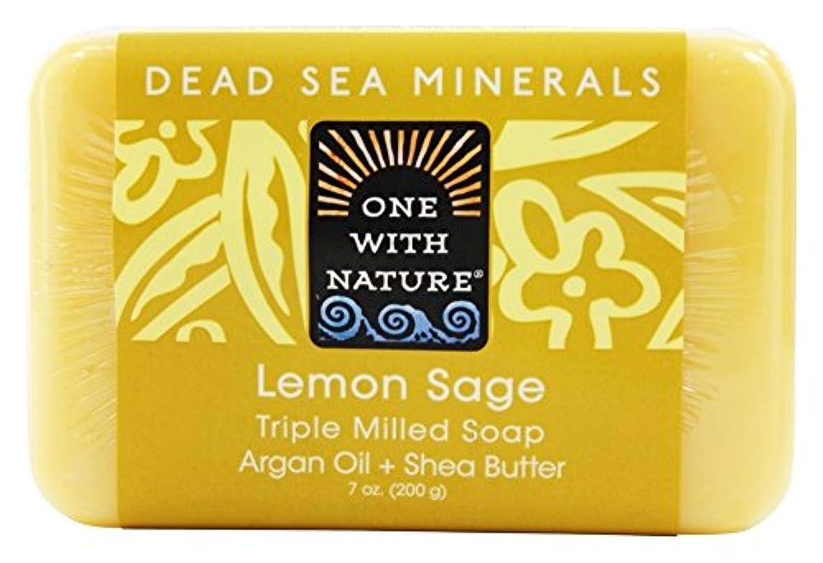 コンパスガジュマルメタリックOne With Nature - 死んだ海ミネラル バー石鹸穏やかな角質除去レモン セージ - 7ポンド [並行輸入品]