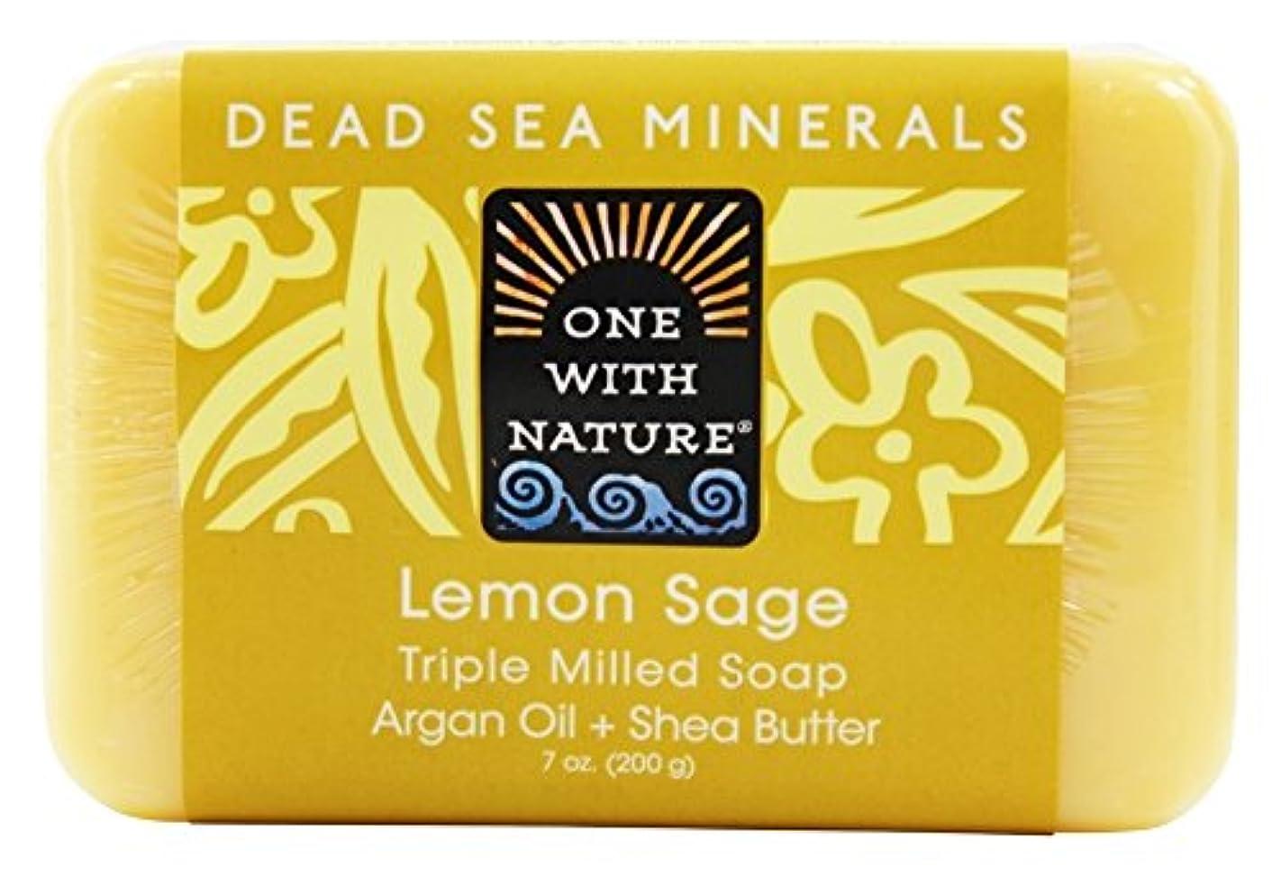 フォアタイプ炎上別れるOne With Nature - 死んだ海ミネラル バー石鹸穏やかな角質除去レモン セージ - 7ポンド [並行輸入品]