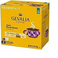 Gevalia Dark Royal Roast Coffee K-Cup Pods 18 ct Box
