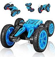 RCリモートコントロールカーリモート制御車のおもちゃスタントカーレース電動両面トラック360回転rcカーのおもちゃギフト用男の子子供大人グリーン,blue