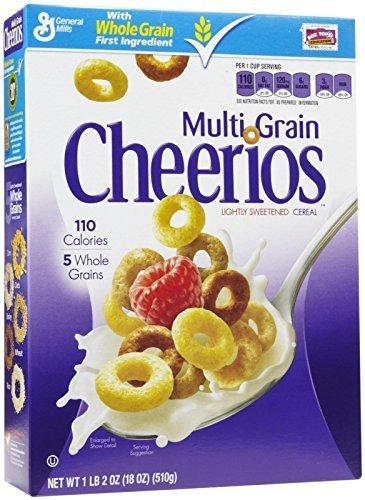多粒チェリオスグルテンフリー朝食シリアル、18オンス Grain Cheerios Gluten Free Breakfast Cereal, 18 Oz