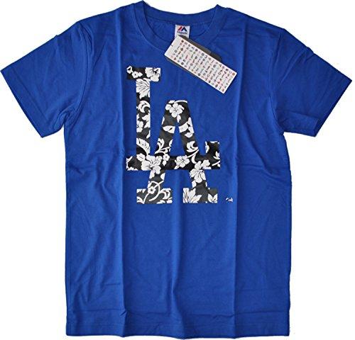 Tシャツ 半袖 ロサンゼルス・ドジャース 胸ハイビスカスロ・・・