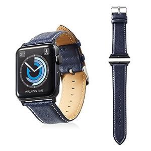 エレコム Apple Watch バンド 42mm ソフトレザー ラウンドボートタイプ ネイビー AW-42BDLRBBU