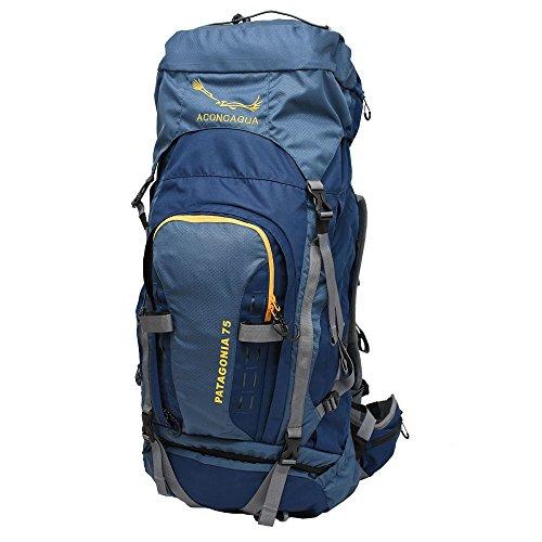 アコンカグア Aconcagua Patagonia パタゴニア 75L (BLUE) /リュックサック70L バックパック 海外旅行 登山 キャンプ 大型 アルパインパック 防水 レインカバー付