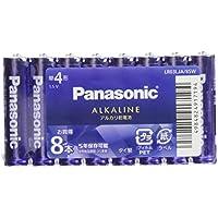 パナソニック 単4形カラーアルカリ乾電池 8本パック バイオレットブルー LR03LJA/8SW