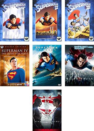 スーパーマン ディレクターズカット版、2 冒険編、3 電子の要塞、4 最強の敵、リターンズ、マン・オブ・スティール、バットマンvsスーパーマン ジャスティスの誕生  全7巻セット [マーケットプレイスDVDセット商品]