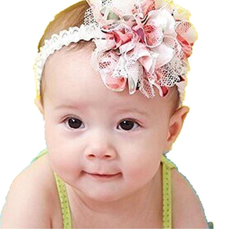smtsmtベビーフラワーヘッドバンドガールズレース幼児髪織りベビーアクセサリー