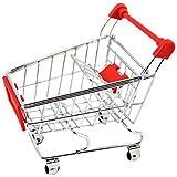 SONONIA  2個 ミニショッピングカート モデル 携帯 キー収納 部屋装飾 ギフト 赤