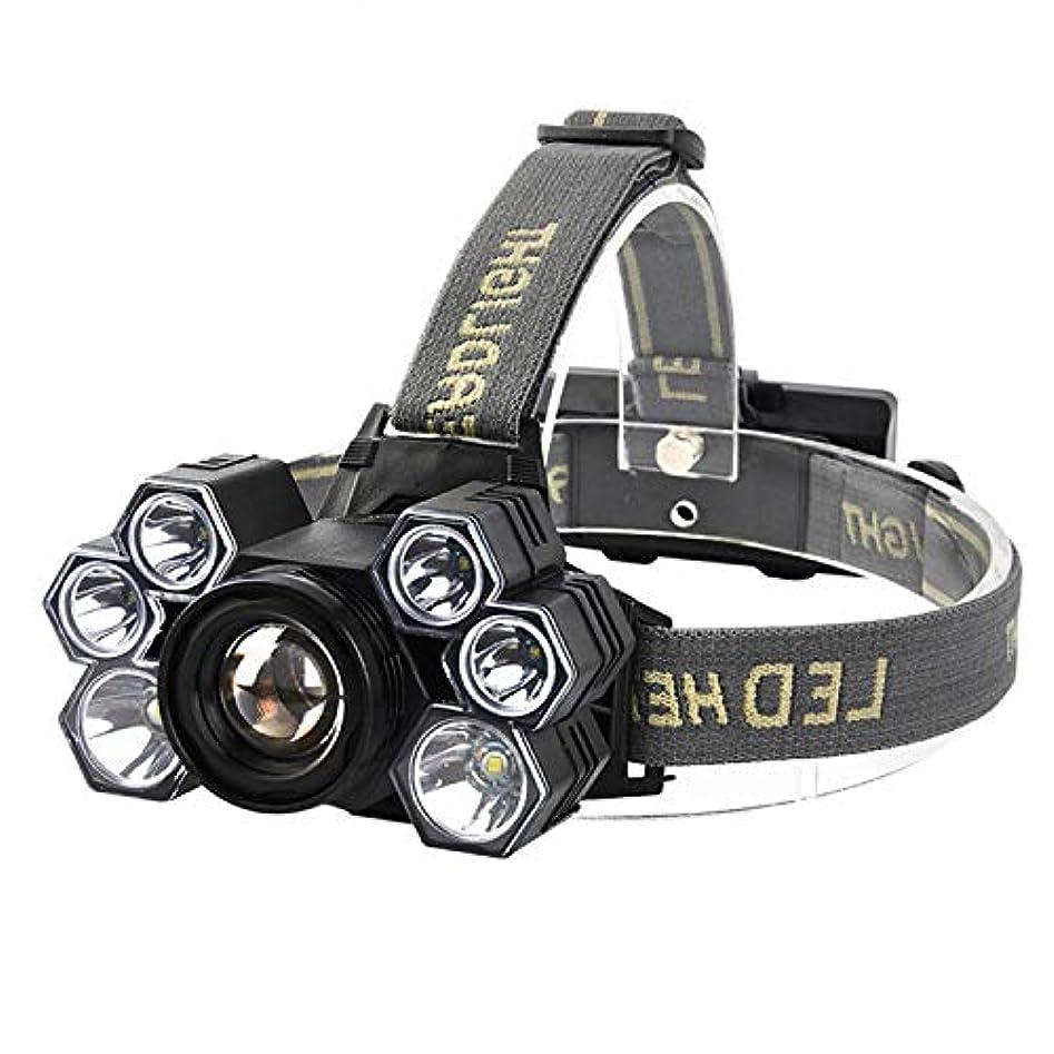 竜巻わかるソフィー7つのライトT6グレアのズームレンズのヘッドライト、USBの充満夜釣ヘッドライトヘッドマウント式ヘッドライト