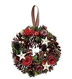 丸和貿易  クリスマス リース レッドパインスター  (S)  壁掛け  玄関飾り    4008738-01