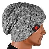 ニット帽 メンズ ニット帽子 シンプル スノーボード スキー にも最適 帽子 (灰色)