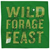 Colter Co. Survival Bandana for Fishing, Camping, Hiking | 100% Cotton, Made in The USA… (Forager, Green)