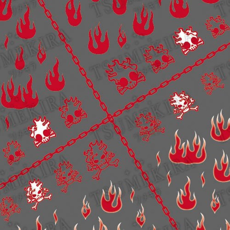 吹きさらし毛布フライトツメキラ ネイル用シール メンズスタイル ファイアー  レッド