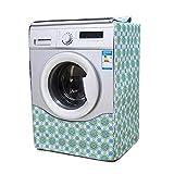 洗濯機カバー  ドラム式洗濯機用 防水 日焼け止め 防塵 ファスナー式 (L 51-57cm)