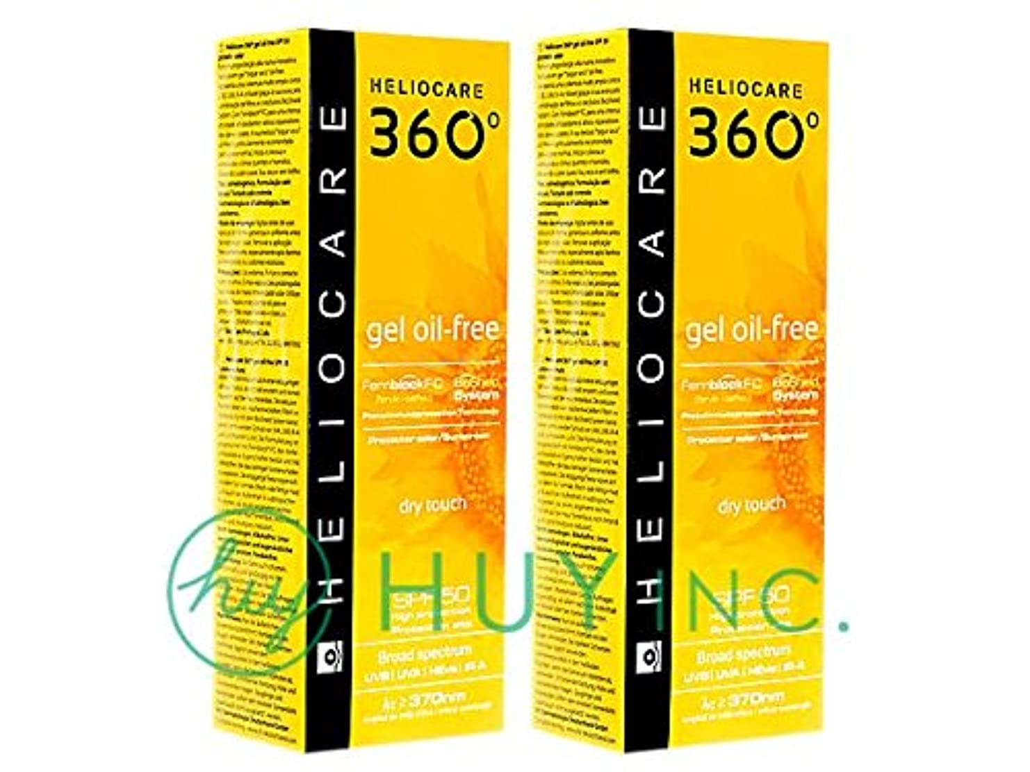 祖先受付テンションヘリオケア 360°ジェルオイルフリー(Heliocare360GelOil-Free)SPF50 2ボトル(50ml×2) [並行輸入品]