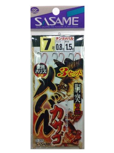 ささめ針(SASAME) D-305 メバル・カサゴ3セット 7-0.8