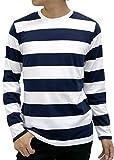 OVAL DICE(オーバルダイス) Tシャツ ボーダー 長袖 クルーネック メンズ 柄3 M