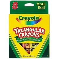 Crayola Llc製品 – Triangular anti-rollクレヨン, Nontoxic , 8 / BX、アソートカラー – Sold As 1 Bx – Crayola三角形anti-rollクレヨンは学生アートプロジェクトの理想的な。三角デザインPreventsのクレヨンからRolling机や、簡単オフfor Students to Get a Grip on適切な手書きの習慣。GREAT for教室とホーム使用。教室での配布Easeのストレージとのボックスは、再利用可能なトレイとクリア丈夫プラスチックの蓋の内側の。Nontoxic。