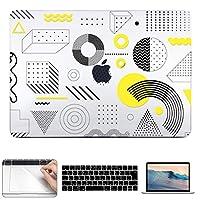 CISOO MacBook Pro Touch bar 15インチ ケース おしゃれ mac カバー モダンスタイル 3D UV プリント 薄型 耐衝撃 保護カバー A1707 A1990対応 mac book pro キーボードカバー 日本語 JIS配列 トラックパッド 液晶保護フィルム 4点セット