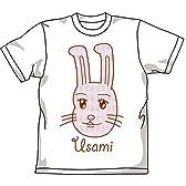 ギャグマンガ日和 うさみちゃんフェイスTシャツ ホワイト サイズ:XS