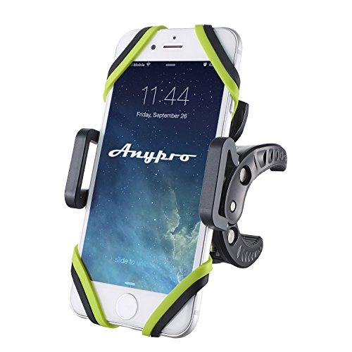 Anypro 自転車ホルダー バイクスタンド 360度回転 取付簡単 脱落防止 GPSナビ・動画撮影・ポケモンGo スマホ・iPhone等固定用マウントキット 多機種対応【予備ラバー付属+1年間安心保証】 WY-ZH201