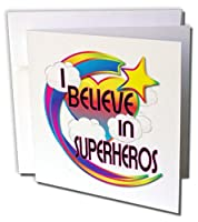 Dooni Designs – Believe Inビリーブインドリーミービリーフデザイン – I Believe In Superherosキュートデザイン – Greeting cards-6グリーティングカード封筒付き(GC _ 166917 _ 1 )