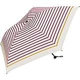 ワールドパーティー(Wpc.) 雨傘 折りたたみ傘 レッド 50cm 超軽量90g  カラーボーダー ミニ AL-021 RD