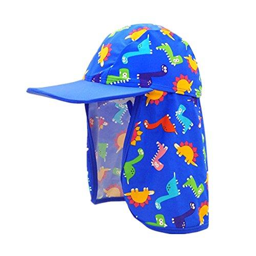 子供用 水着日焼け予防UVカットフラップキャップ帽子 水泳帽 ツバ フラップ 付き ラッシュガード 子供 ジュニア UV...
