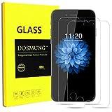 iPhone7 保護フィルム-DOSMUNG(2枚セット)iPhone7 ガラス フィルム-強化保護ガラス 液晶保護フィルム 保護シート 高精細 3Dtouch対応 クリスタル 高透過率 表面硬度9H ガラス飛散防止 指紋防止 気泡ゼロ