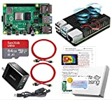 Raspberry Pi 4 アーマード【 Raspberry Pi 4 B (4GB), アーマーケース (FANタイプ), Anker製 3.6A電源, SanDisk Ultra 64GB, 4K対応デュアル出力用ケーブル, Switch Cable, Manual, Support Card)