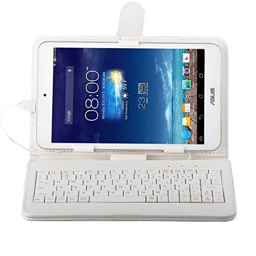IVSO 7インチ タブレット兼用microUSB 端子接続のキーボード