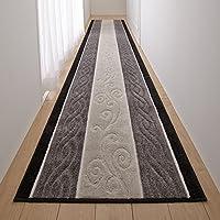 San-Luna 廊下敷きカーペット ロング カーペット 80×440cm 【日本製】 ふかふか マット 滑り止め加工 (トルコ製生地使用) グレー 灰色