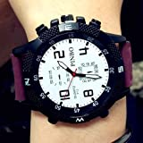 メンズ フォーマル ZooooM クロノグラフ ミリタリー デザイン アナログ 腕 時計 ファッション アクセサリー フォーマル カジュアル ビジネス メンズ レディース 男性 女性 男 女 兼 用 ( パープル ) ZM-WATCH2-1004-PP