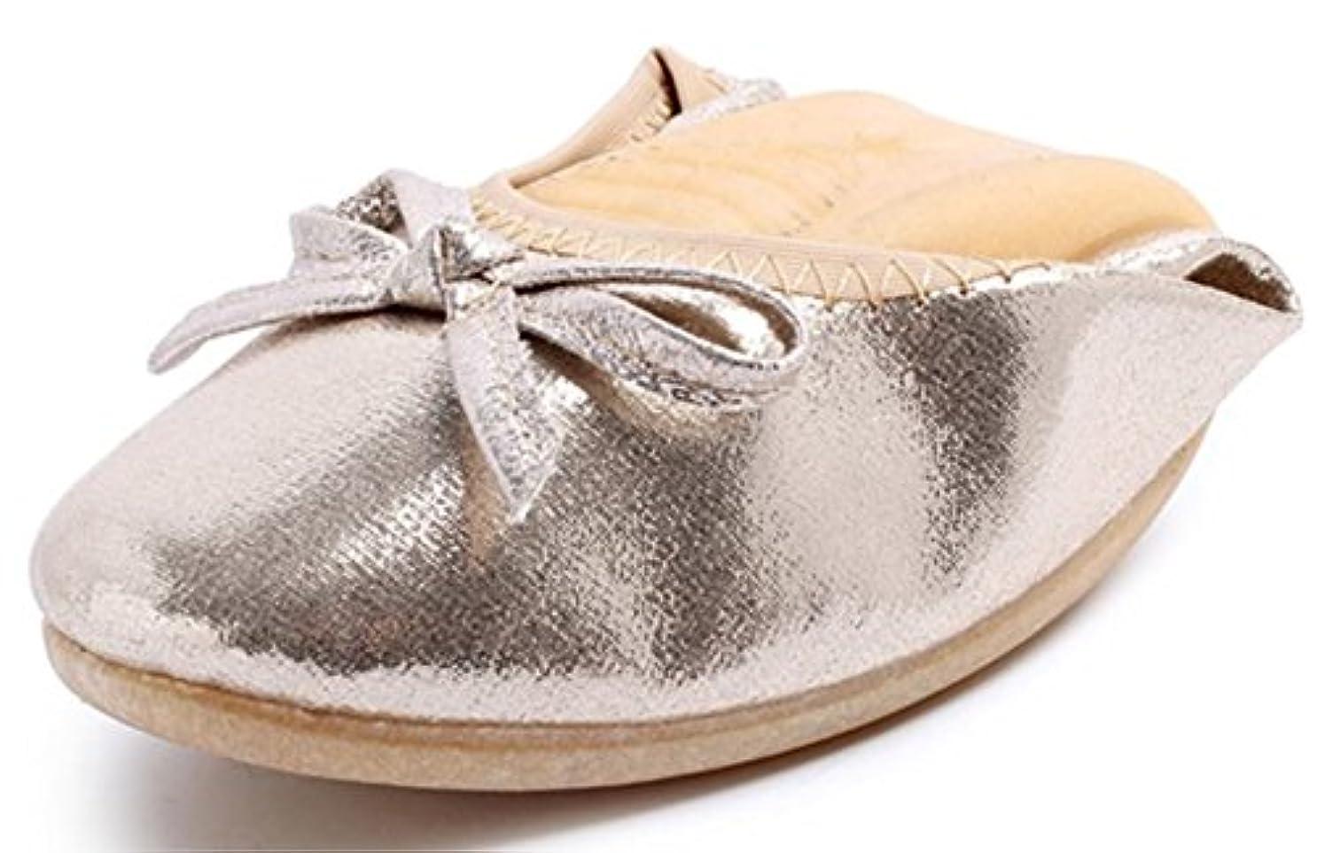 手がかり放射する差[ブブ オーハナ] 折りたたみ パンプス フラット 上履きとしても 柔らかい 歩きやすい レディース