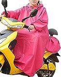レディース ロング haruju レインコート レインポンチョ ロングポンチョ バイク 自転車 車いす (ピンク)
