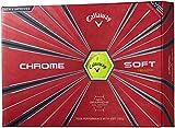 Callaway(キャロウェイ) ゴルフボール CHROME SOFT 2018年モデル 1ダース( 12個入り) イエロー 6421355120044