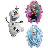 ディズニープリンセス アナと雪の女王 シェイプ + オラフ フォイルバルーン 2種セット【並行輸入品】