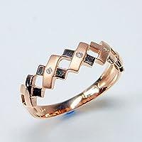 [ココカル]cococaru ダイヤモンド K10 ピンクゴールド リング 指輪 7号 天然 ダイヤ 日本製