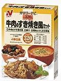 Nichirei Foodsその他 カロリーナビ 牛肉のすき焼き風セット 320kcalの画像