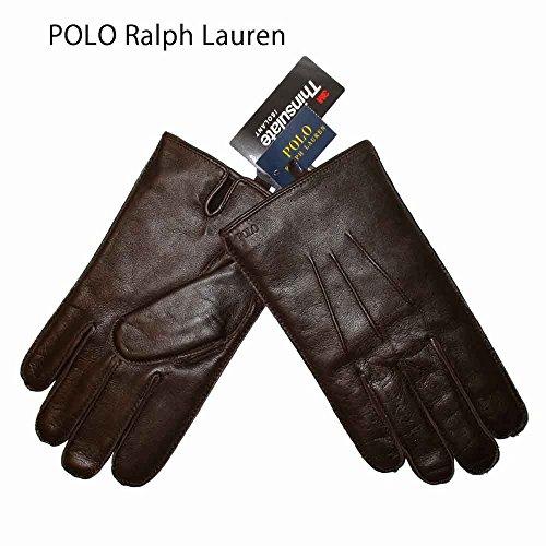 ポロ ラルフローレン 手袋 POLO RALPH LAUREN レザーグローブ メンズ 6G0096 209 BROWN [並行輸入品]