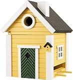 ワイルドライフガーデン社 鳥の巣箱/餌箱 スウェーデンデザイン (黄色)