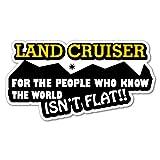 ハンティングワールド The Worldいないフラットステッカーfor Land Cruiserデカール4x 44WD Funny Ute