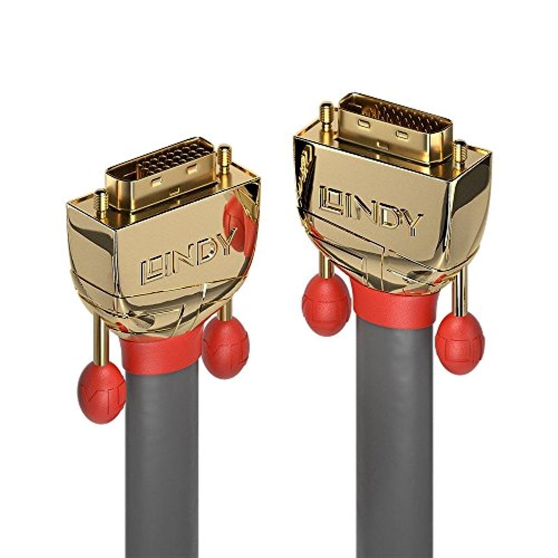 シンポジウム相談するきしむLINDY 15m DVI-Dデュアルリンクケーブル、ゴールドライン
