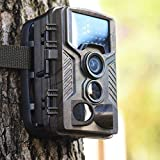 ELTD トレイルカメラ 暗視カメラ 赤外線カメラ ビデオレコーダー ハンティングカメラ 1200万画素 HD動画対応モデル 動体検知 IP54防水仕様 時差撮影機能 電池式 SDカード録画 動物撮影 野外監視カメラ(H801, オリーブ)
